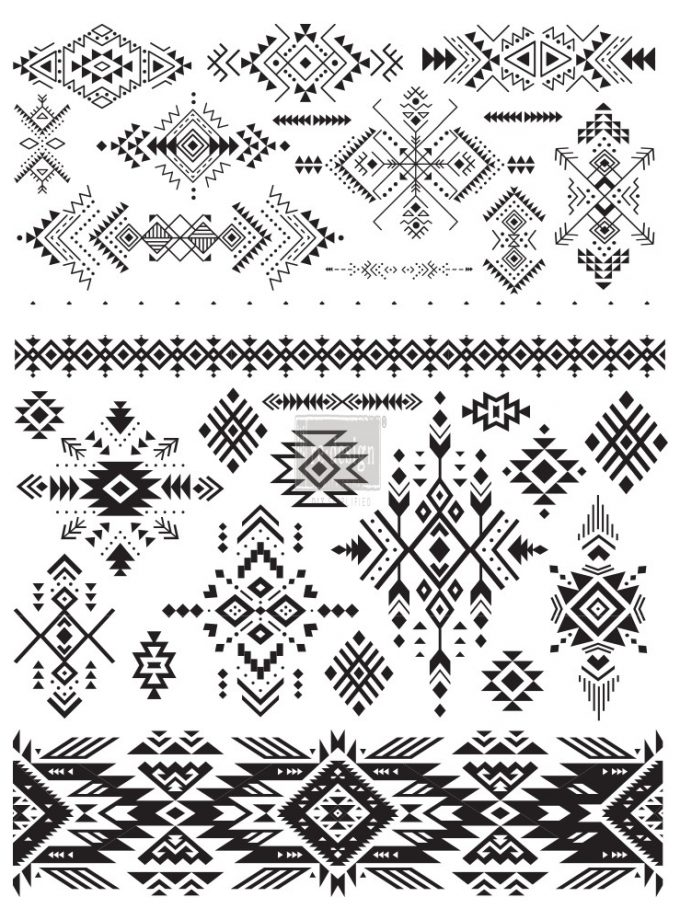 "Redesign Décor Transfers® - Folk I size 24""x 32"""