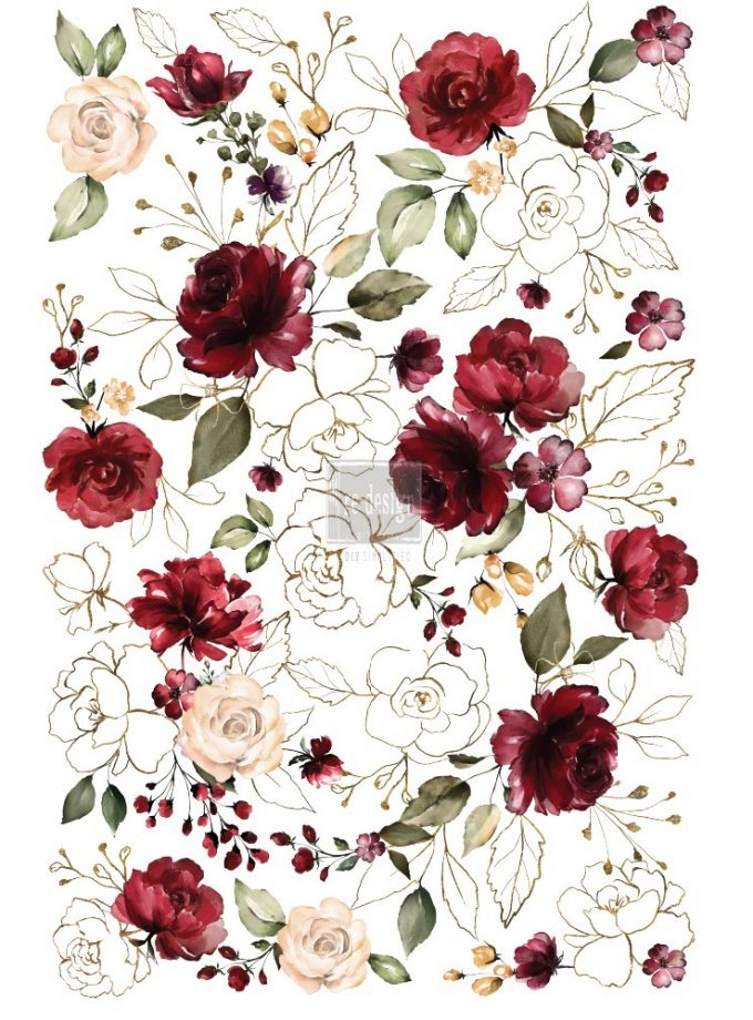 "Redesign Décor Transfers® Midnight Floral - size 22""x 33"""