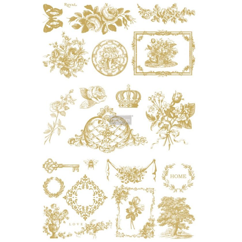 """Redesign Decor Transfers® - Gilded Home & Nature - 3 sheets, design size 22"""" X 34"""""""