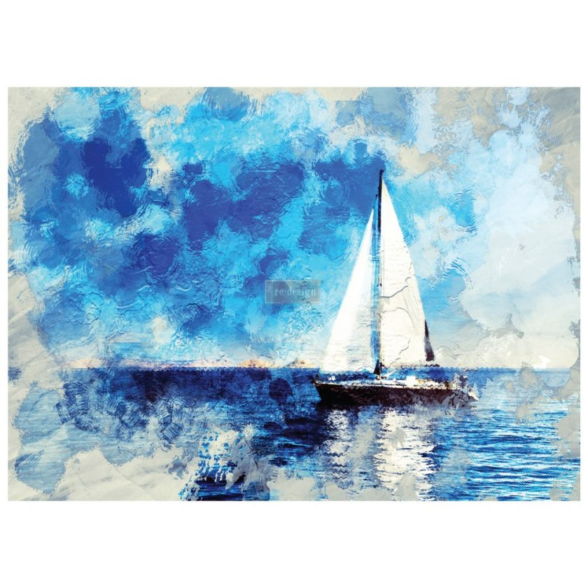"""Redesign Decor Transfers® - On A Voyage II - 3 sheets, design size 24"""" X 33"""""""
