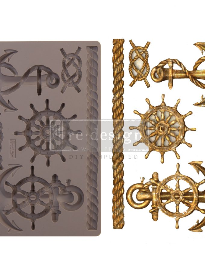 """Redesign Decor Moulds® - Mariner's Voyage - 5"""" x 8"""", 8mm thickness"""
