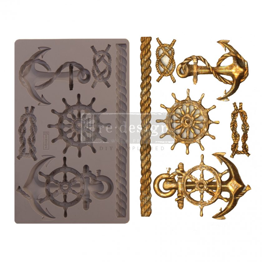 "Redesign Decor Moulds® - Mariner's Voyage - 5"" x 8"", 8mm thickness"
