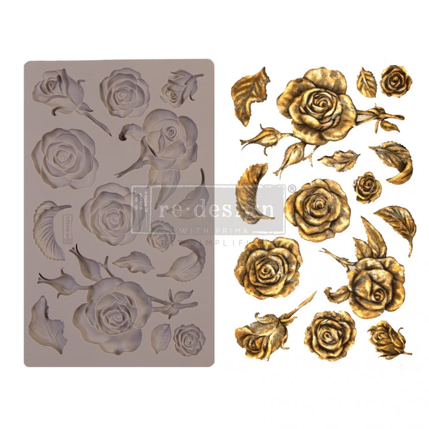 "Redesign Decor Moulds® - Fragrant Roses - 5"" x 8"", 8mm thickness"