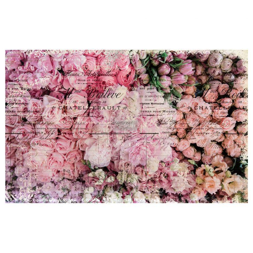 """Découpage Décor Tissue Paper - Flower Market - 2 sheets (19"""" x 30"""")"""