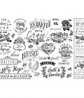 """Découpage Décor Tissue Paper - Thankful & Blessed - 2 sheets (19"""" x 30"""")"""