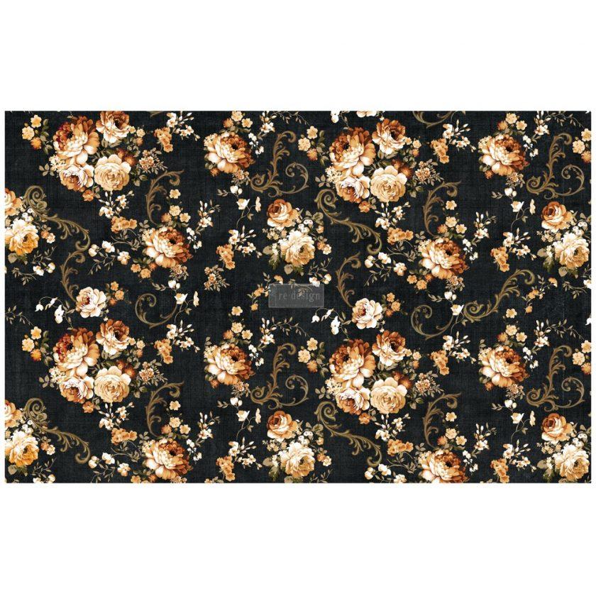 """Découpage Décor Tissue Paper - Dark Floral - 2 sheets (19"""" x 30"""")"""