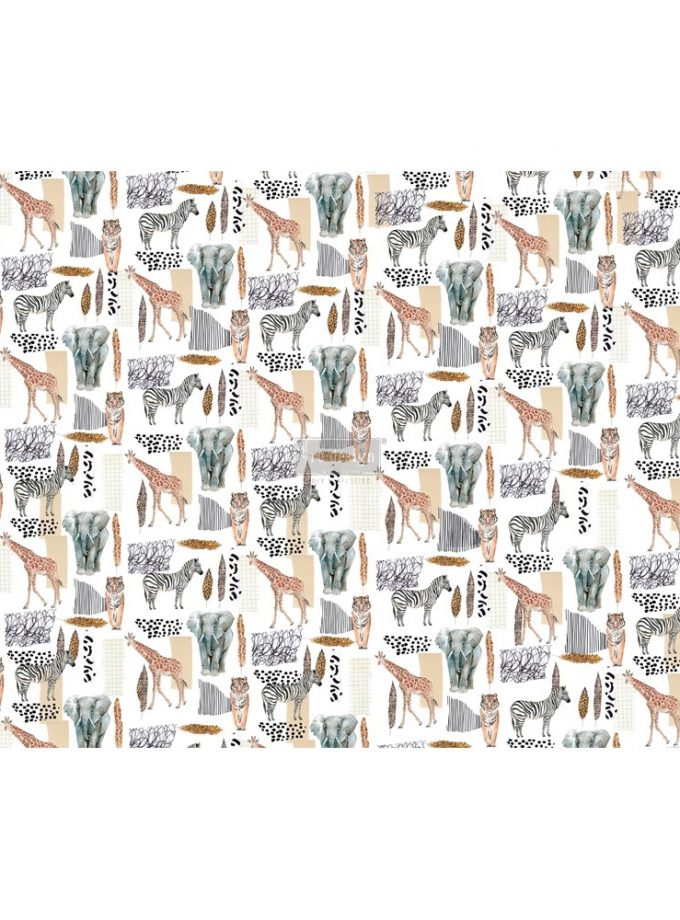 "Découpage Décor Tissue Paper - Safari - 2 sheets (19"" x 30"")"