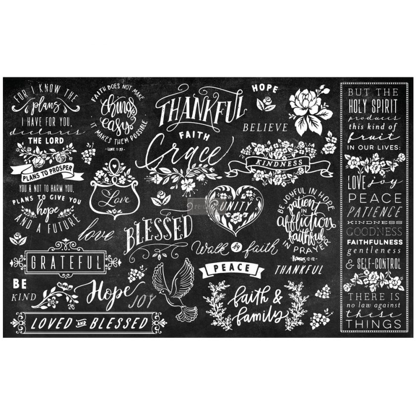 """Découpage Décor Tissue Paper - Thankful & Blessed II - 2 sheets (19"""" x 30"""")"""