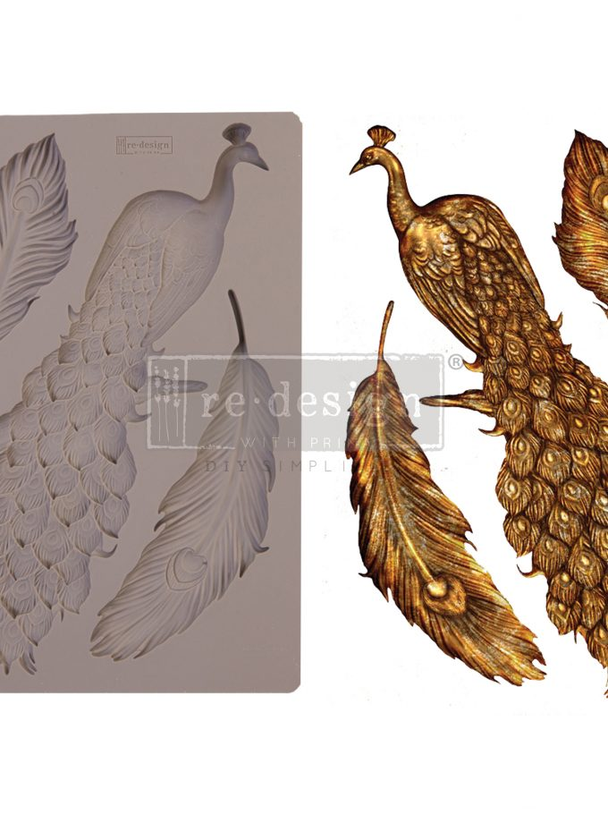 """Redesign Decor Moulds® - Regal Peacock - 5"""" x 8"""", 8mm thickness"""
