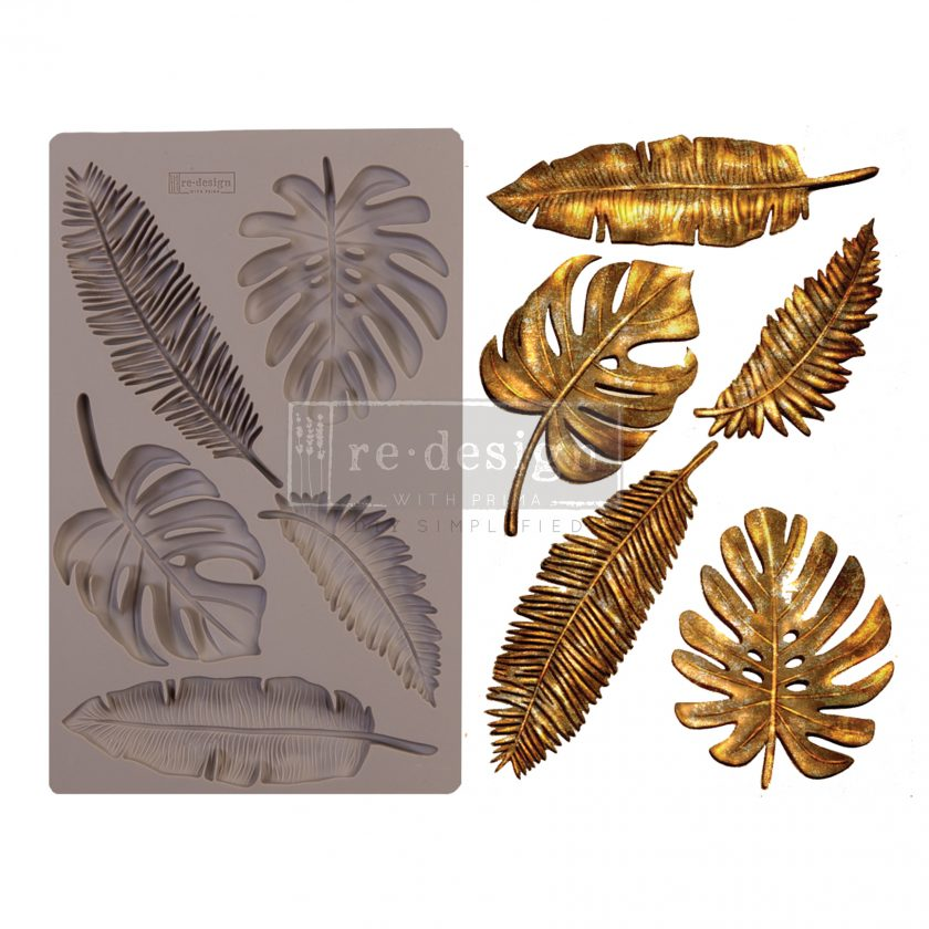 """Redesign Decor Moulds® - Monstera - 5"""" x 8"""", 8mm thickness"""