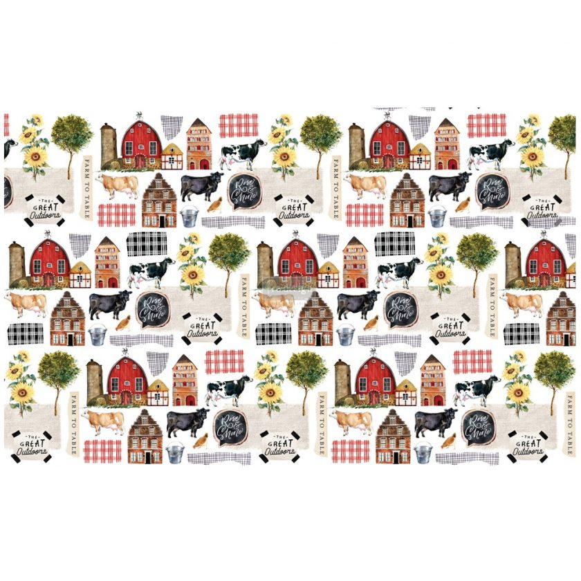 "Découpage Décor Tissue Paper - Farm To Table - 2 sheets (19"" x 30"")"