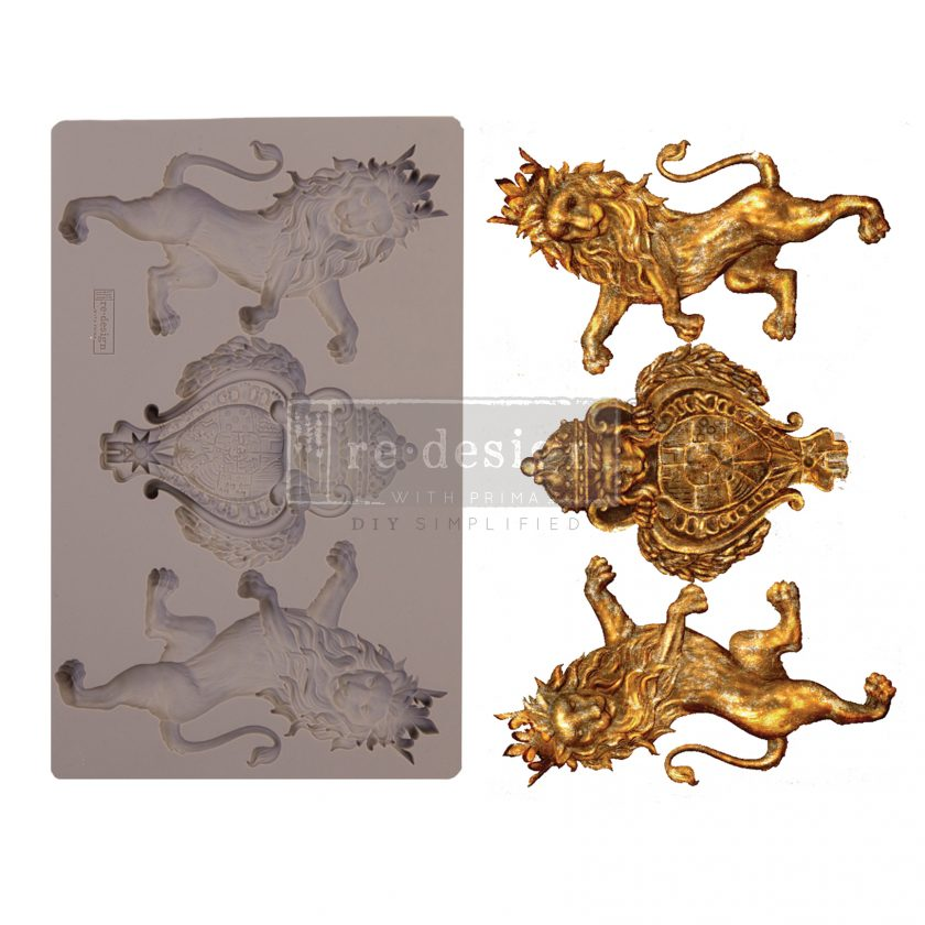 "Redesign Decor Moulds® - Royal Emblem - 5"" x 8"", 8mm thickness"