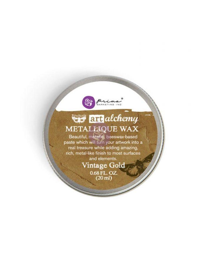 Art Alchemy-Metallique Wax-Vintage Gold .68oz (20ml)
