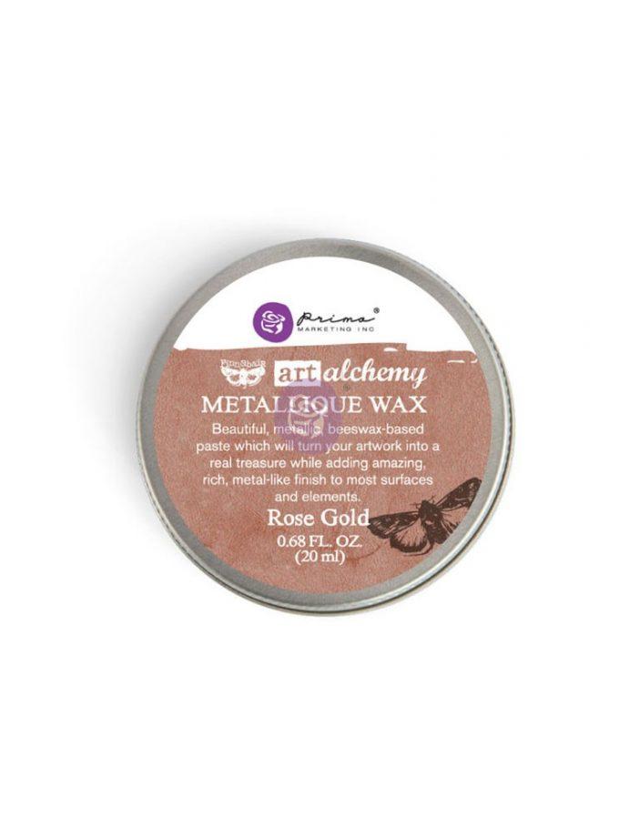 Art Alchemy-Metallique Wax-Rose Gold .68oz (20ml)