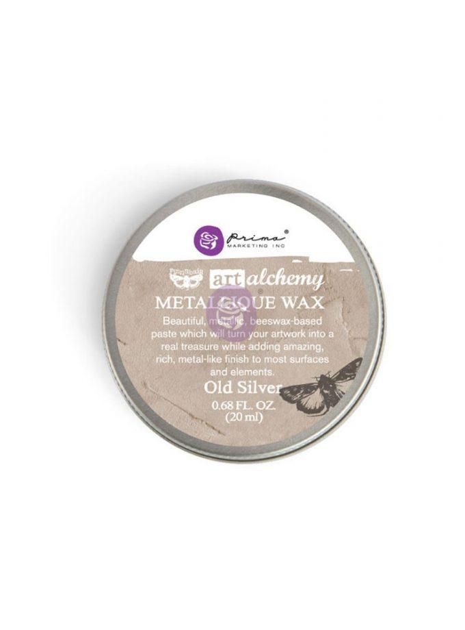Art Alchemy-Metallique Wax-Old Silver .68oz (20ml)