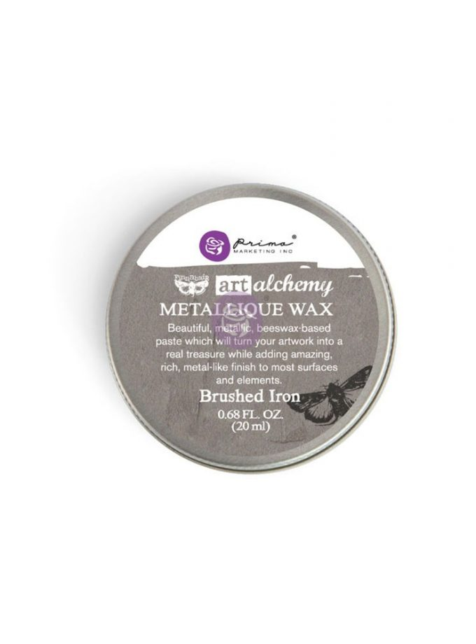 Art Alchemy-Metallique Wax-Brushed Iron .68oz (20ml)