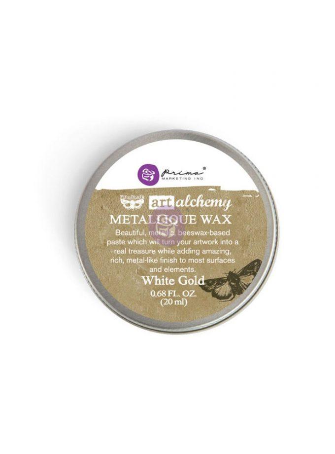 Art Alchemy-Metallique Wax-White Gold .68oz (20ml)