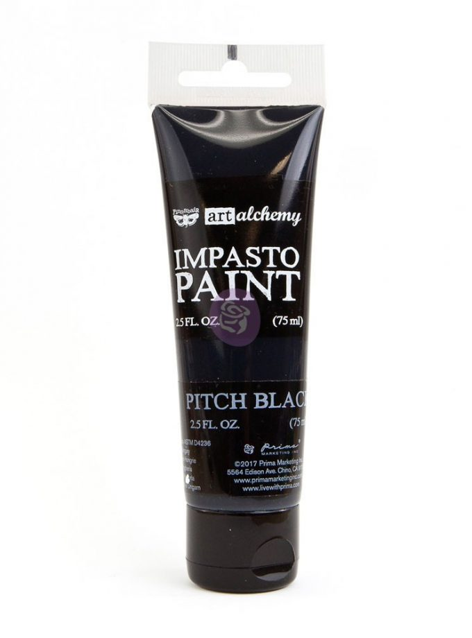 Art Alchemy - Impasto Paint - Pitch Black 2.5 oz