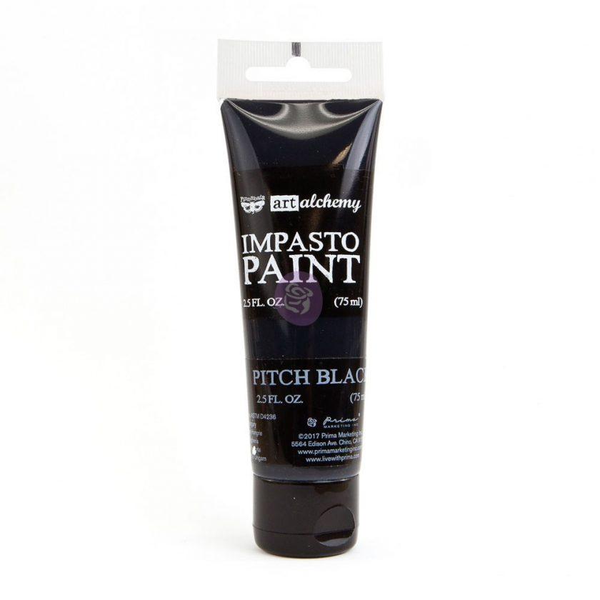 Art Alchemy - Impasto Paint - Pitch Black 2.5 oz
