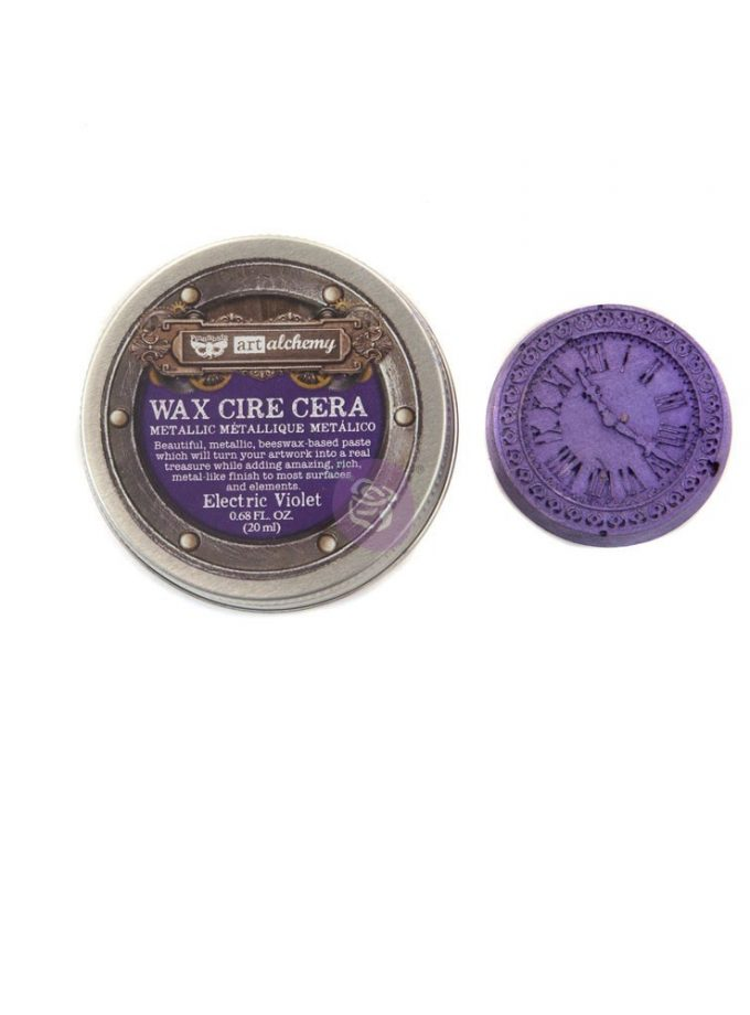 Art Alchemy- Metallique Wax - Electric Violet .68oz (20ml)