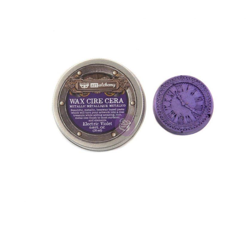 Art Alchemy- Metallique Wax - Electric Violet .68oz (20ml)