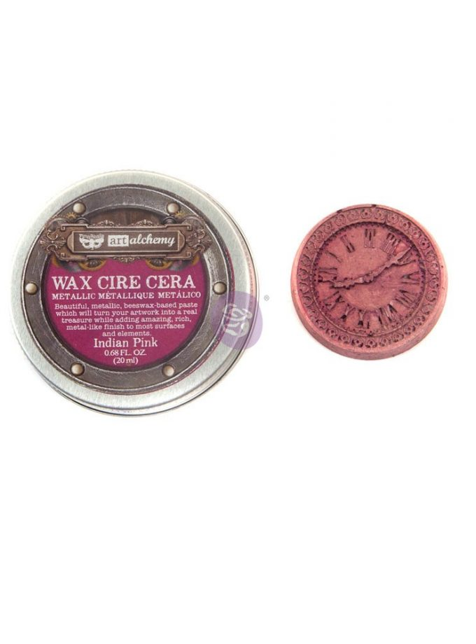 Art Alchemy- Metallique Wax - Indian Pink .68oz (20ml)