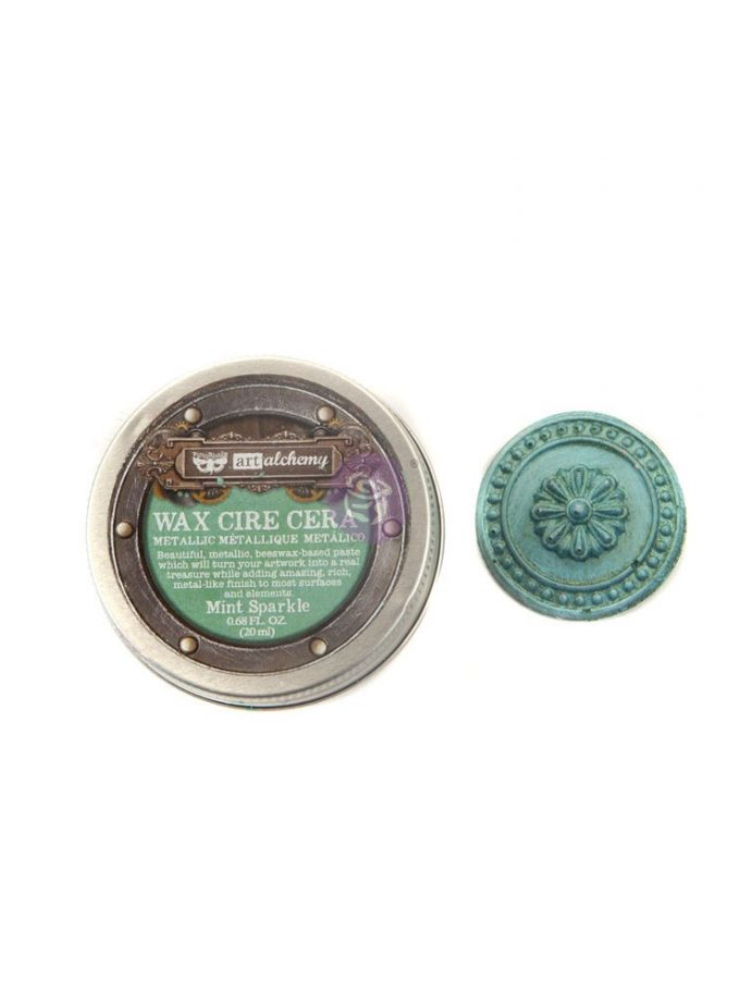 Art Alchemy- Metallique Wax - Mint Sparkle .68oz (20ml)