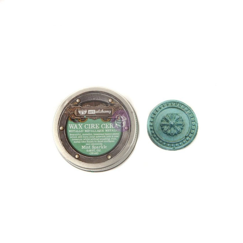 Art Alchemy- Metallique Wax - Mint Sparkle .68oz (20ml)