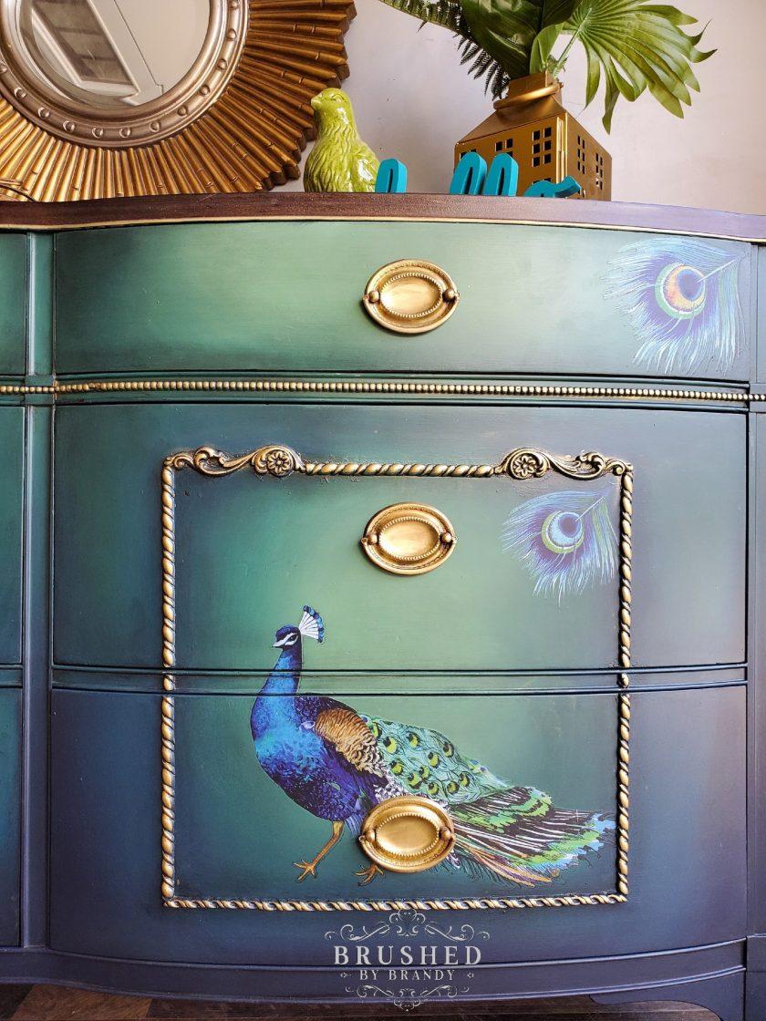 "Redesign Decor Transfers® - Peacock Dreams design size 24"" x 32"""