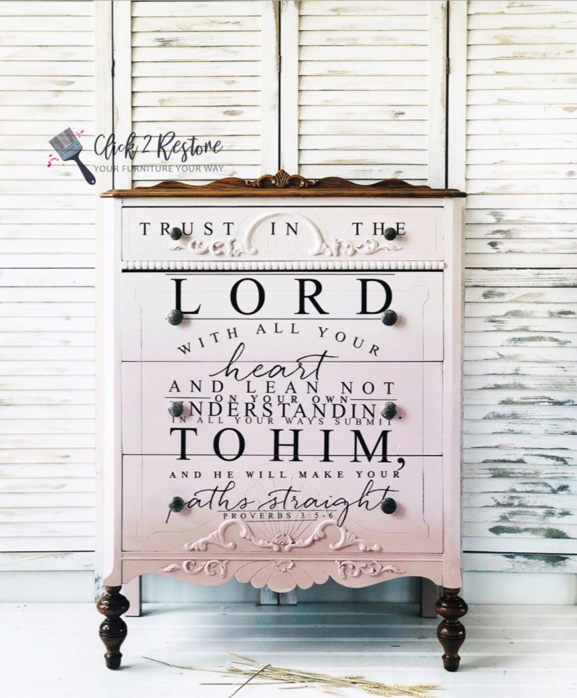 "Redesign Decor Transfers® - Trust In The Lord - 3 sheets, design size 22"" X 30"""