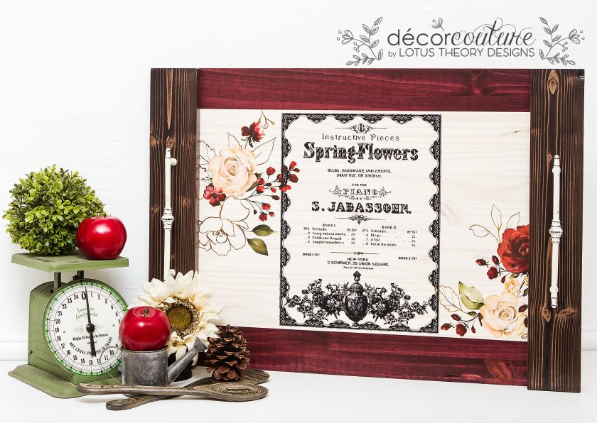 "Redesign Decor Transfers® - Spring Flowers - 4 sheets, design size 22"" X 30"""