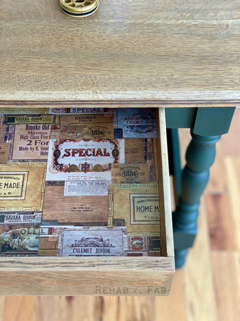 "Redesign Decor Transfers® - Vintage Cigar Box design size 22"" x 32"""
