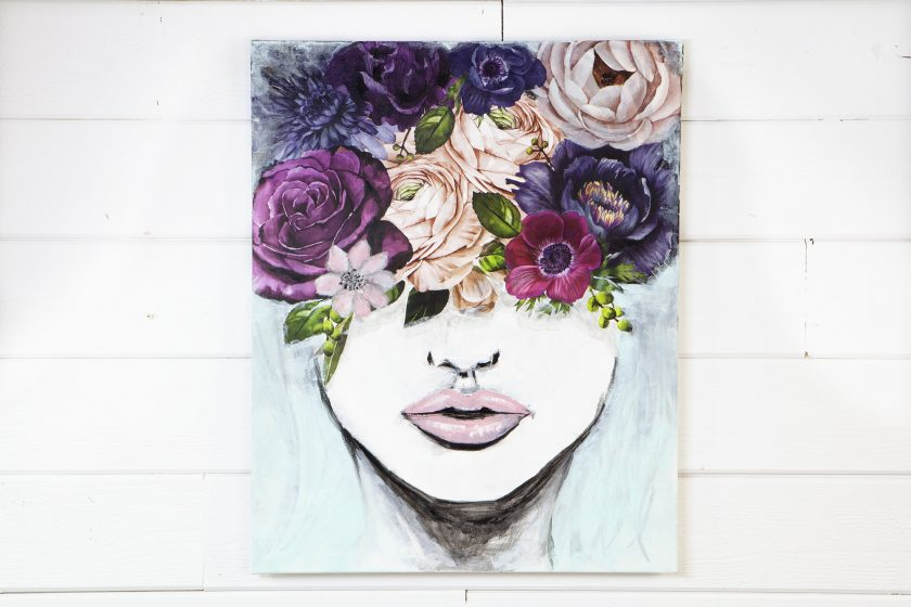 """Redesign Decor Transfers® - Lush Floral II - 6 sheets, design size 44"""" X 30"""""""