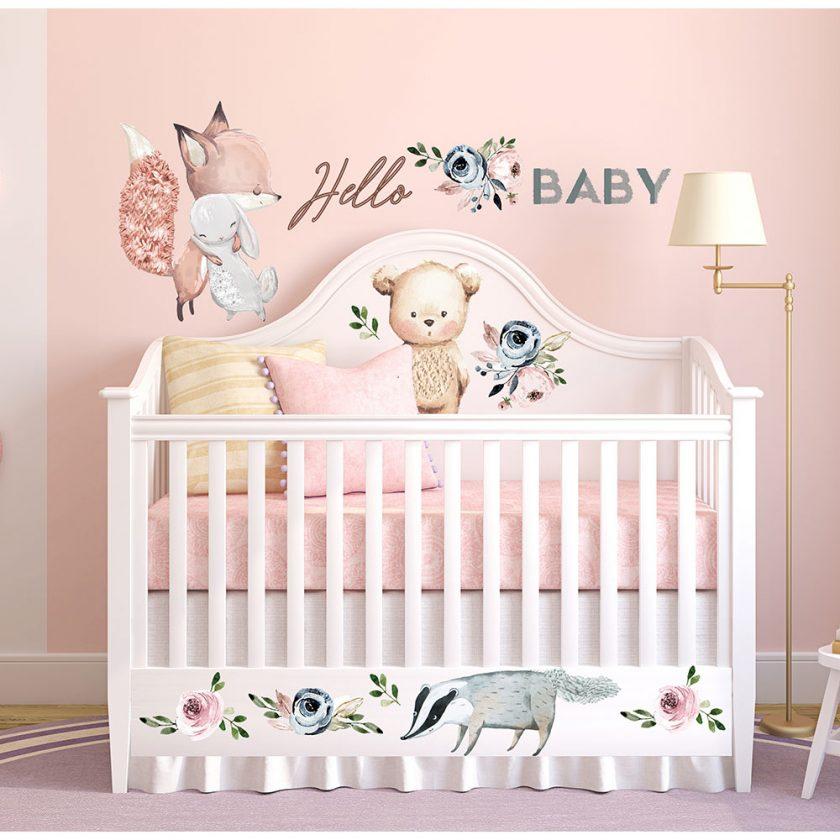 "Redesign Decor Transfers® - Hello Baby design size 22""x30"""