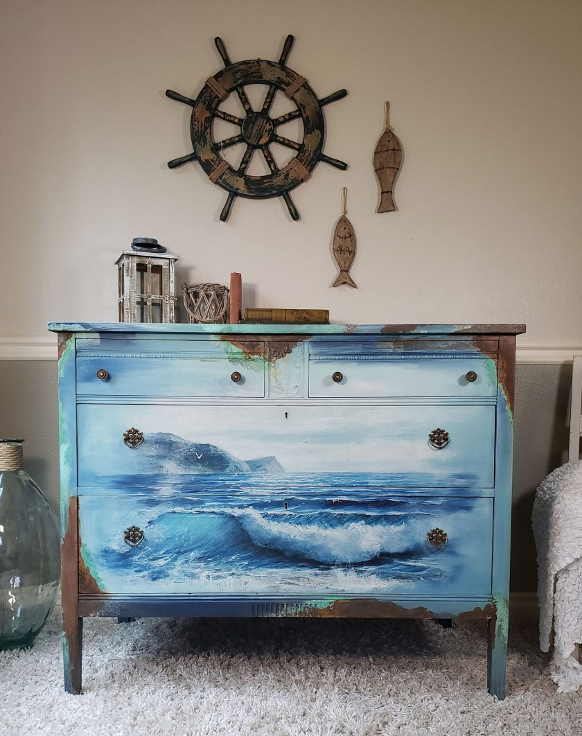"""Redesign Decor Transfers® - Blue Wave - 3 sheets, design size 24"""" X 34"""""""