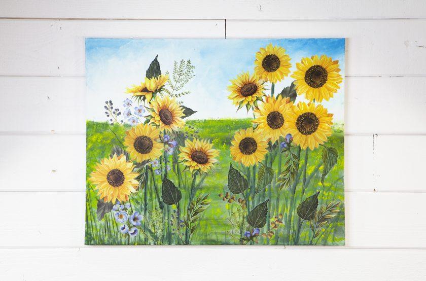 "Redesign Decor Transfers® - Sunflower Fields - 3 sheets, design size 22"" X 30"""