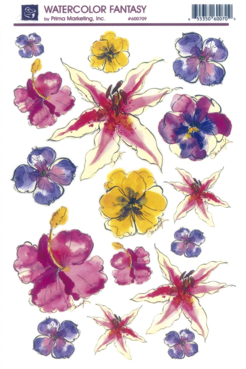 "Watercolor Fantasy Transfer 6""x9"""