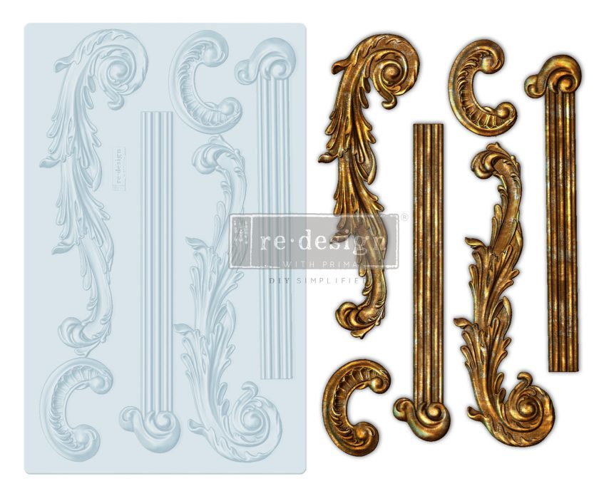"""Redesign Decor Moulds® - Greco - 5""""x8"""", 8mm thickness"""