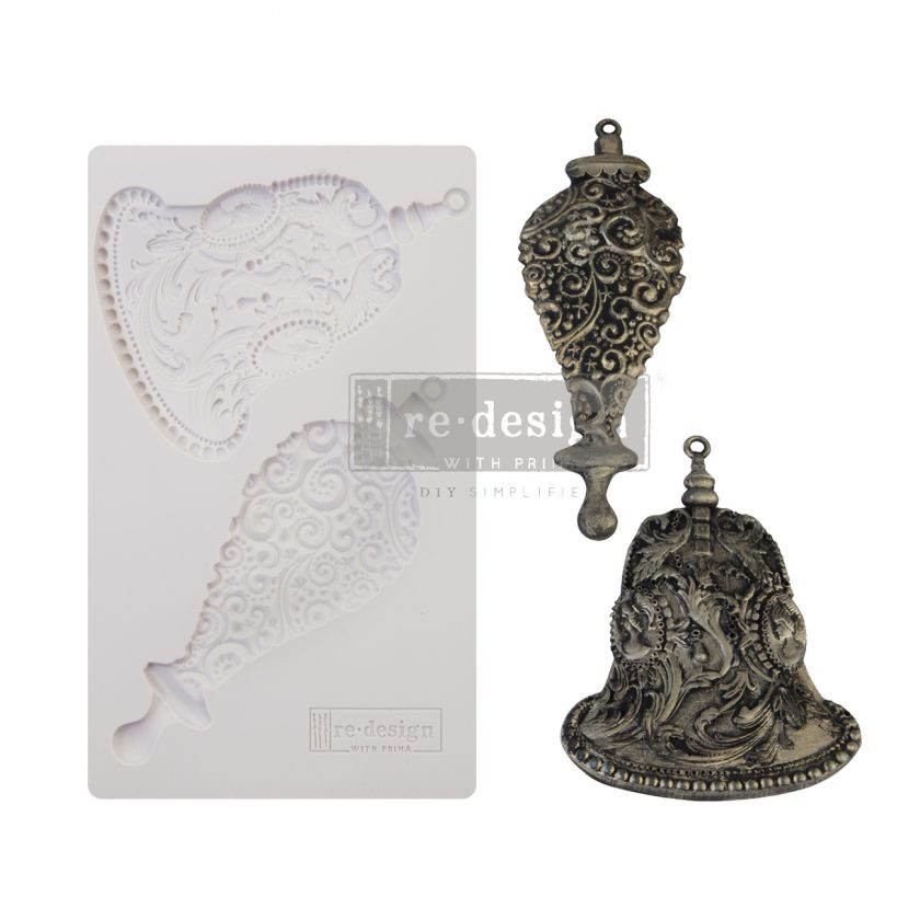 "Redesign Decor Moulds® - Silver Bells - 5""x8"", 8mm thickness"