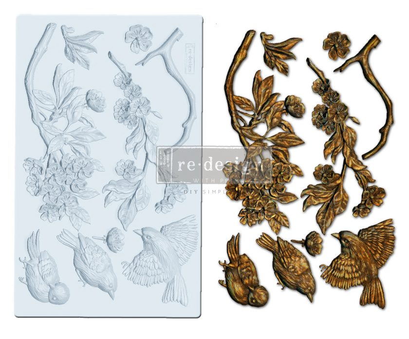 """Redesign Decor Moulds® - Aviary - 5""""x8"""", 8mm thickness"""