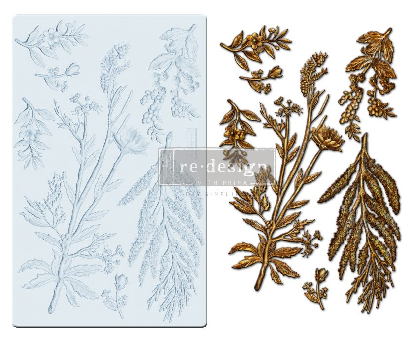 "Redesign Decor Moulds® - Herbology - 5""x8"", 8mm thickness"