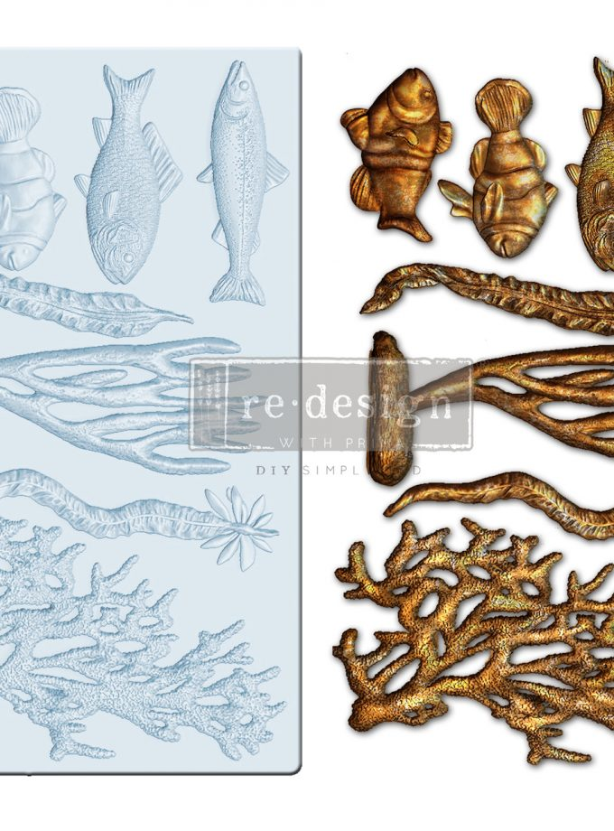 """Redesign Decor Moulds® - Coral Reef - 5""""x8"""", 8mm thickness"""