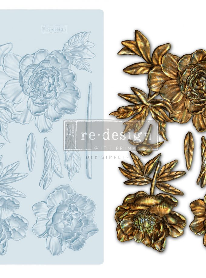 "Redesign Decor Moulds® - Wilderness Rose - 5""x8"", 8mm thickness"
