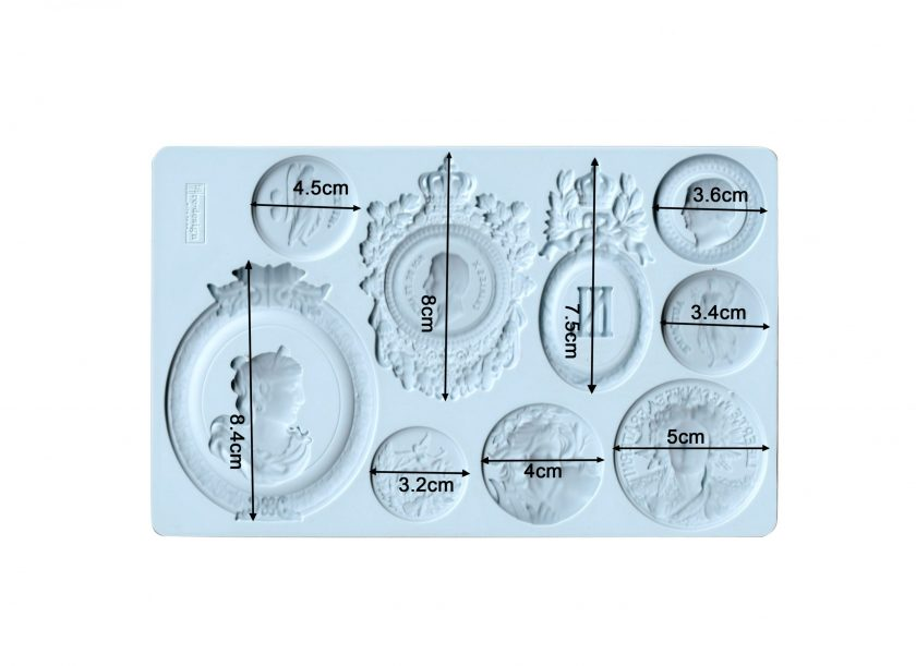 "Redesign Decor Moulds® - Ancient Findings - 5""x8"", 8mm thickness"