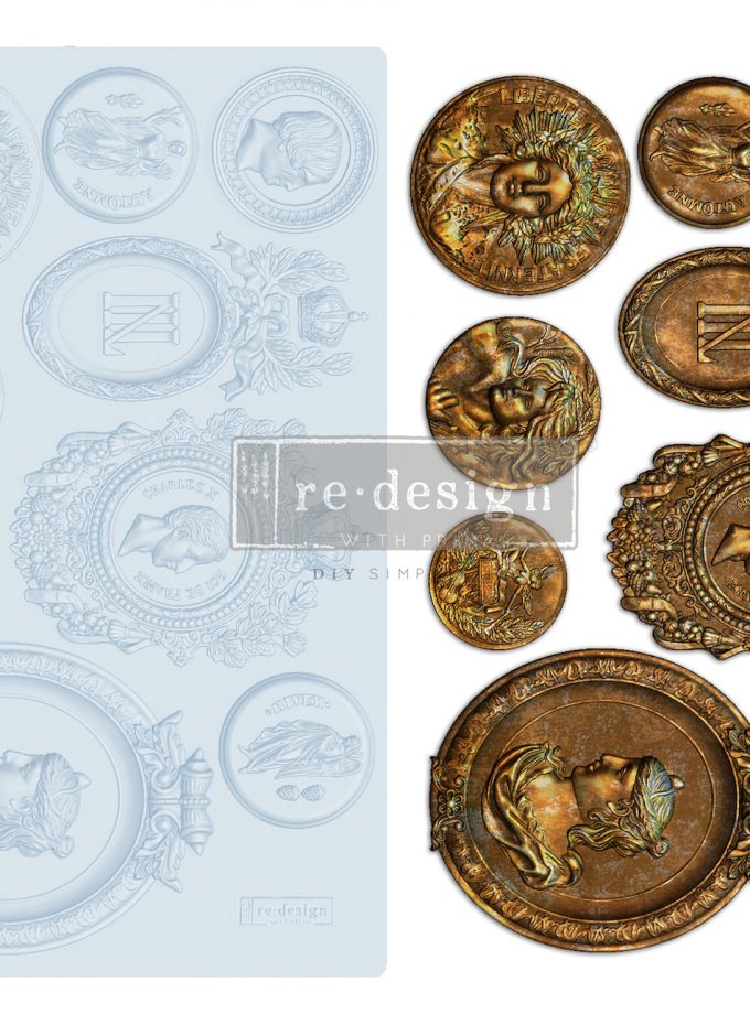 """Redesign Decor Moulds® - Ancient Findings - 5""""x8"""", 8mm thickness"""