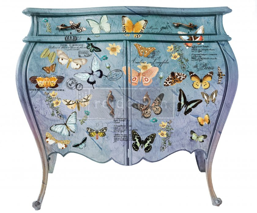 """Redesign Decor Transfers® - Butterfly Dance - total sheet size 24""""x35"""", cut into 3 sheets"""