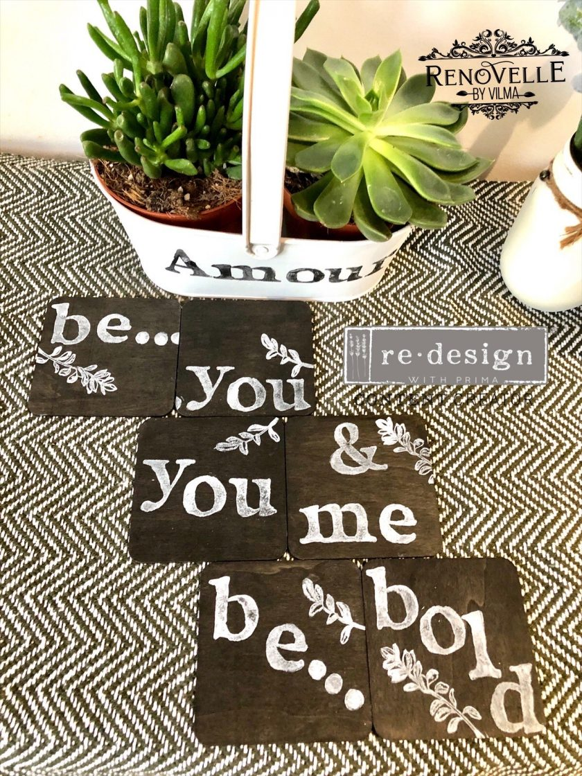 Redesign Decor Clear-Cling Stamps - Alpha - 12x12 clear cling