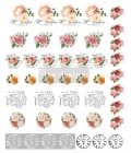 Redesign Knob Transfers - Vintage Rose