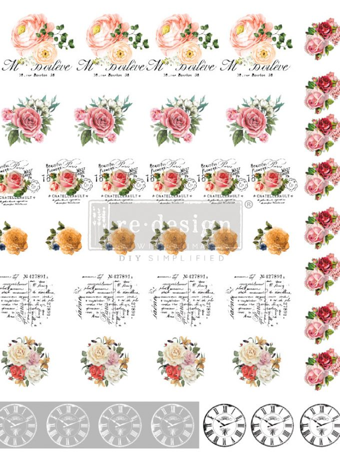 Redesign Knob Transfers - Vintage Rose