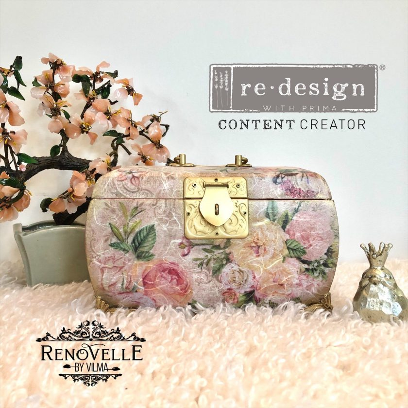 "Redesign Decor Rice Paper - Floral sweetness - 11.5"" x 16.25"""